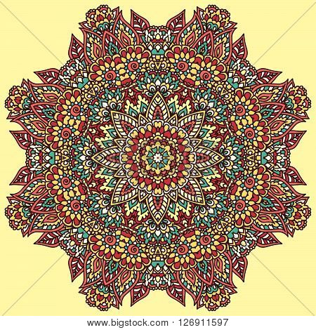 Floral Doodle Rosette