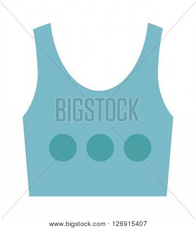 Blue top shirt vector isolated