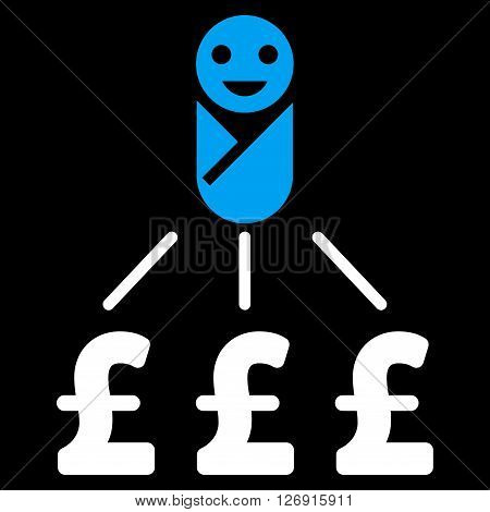 Newborn Pound Expenses vector icon. Newborn Pound Expenses icon symbol. Newborn Pound Expenses icon image. Newborn Pound Expenses icon picture. Newborn Pound Expenses pictogram.