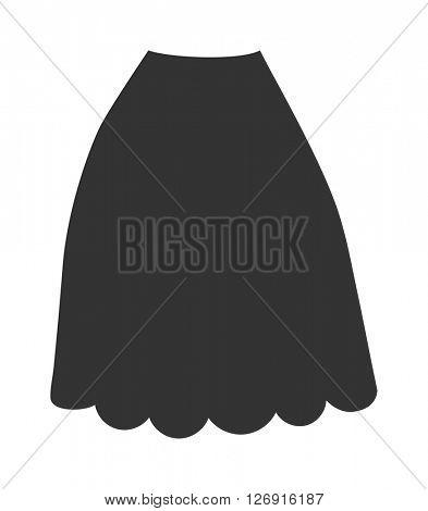 Female skirt model clothes cartoon flat vector.