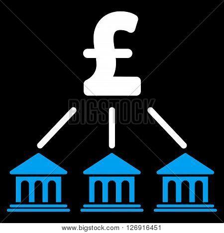 Pound Bank Organization vector icon. Pound Bank Organization icon symbol. Pound Bank Organization icon image. Pound Bank Organization icon picture. Pound Bank Organization pictogram.