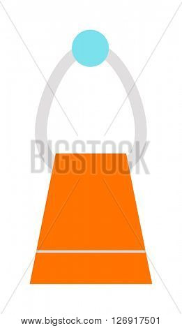 Vector illustration of hand holder towel clean bath hygiene cotton textile.