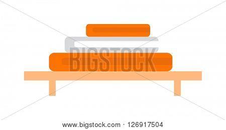 Vector illustration of hand holder towel clean bath hygiene cotton textile.