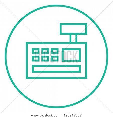 Cash register machine line icon.