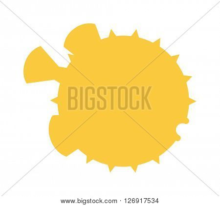 Ocean animal design of fish hedgehog cartoon ocean life vector illustration.