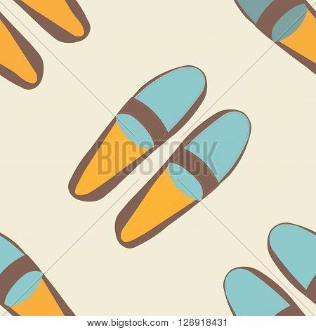 Moccasins seamless pattern background. Seamless pattern of colorful men moccasins