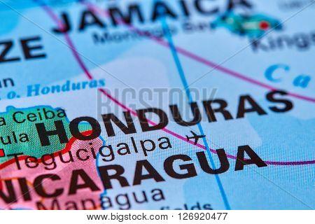 Honduras On The Map