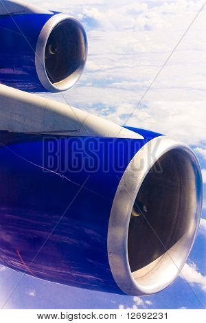 B747 Twin Wing 9000 Horsepower Engines