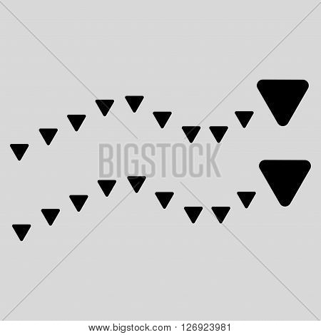 Dotted Trends vector icon. Dotted Trends icon symbol. Dotted Trends icon image. Dotted Trends icon picture. Dotted Trends pictogram. Flat black dotted trends icon. Isolated dotted trends icon graphic.