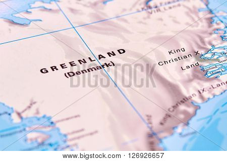 Greenland Country in North America on the World Map