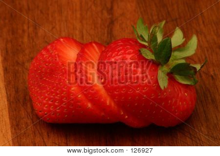 Strawberry On Cutting Board