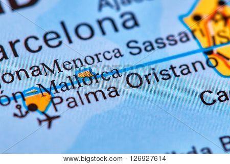 Mallorca Palma On The Map