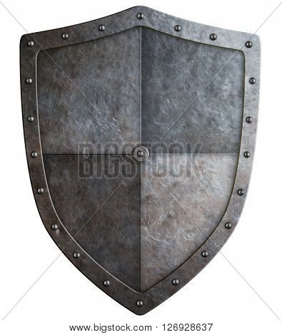 medieval shield or coat of arms 3d illustration isolated