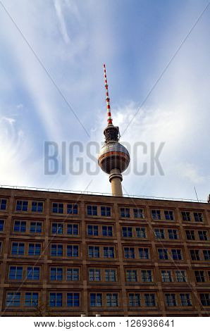 Berlin Tv Tower At Alexanderplatz, Germany