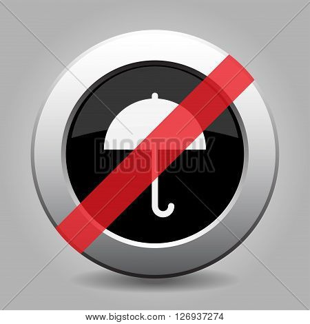 gray chrome button with no umbrella - banned icon