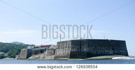 Spectacular panorama of Rio de Janeiro Brazil - military fort view