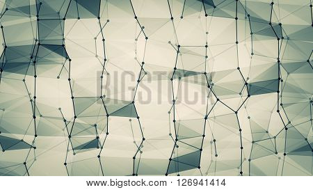 Futuristic abstract wireframe geometry structure 10861. From a series of high resolution technology illustrations.