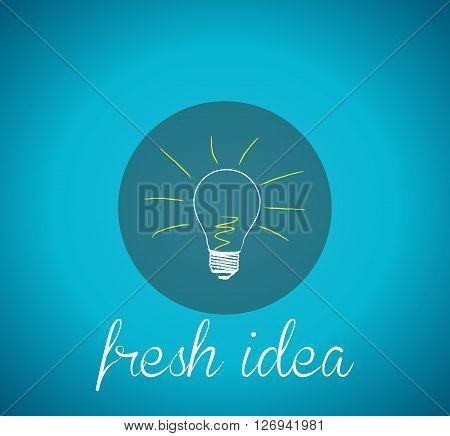 Bulb light idea. concept of fresh ideas inspiration