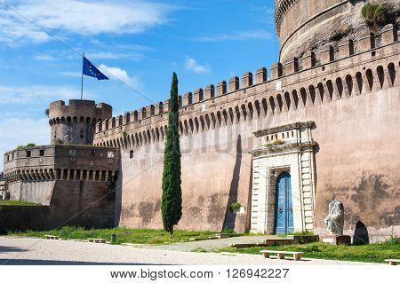 Castel Sant Angelo In Rome European Famous Medieval Landmark