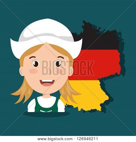 German culture design, vector illustration eps10 graphic