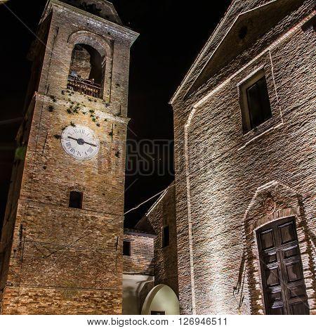Malatesta castle in Mondaino (Rimini). Emilia-Romagna Italy.