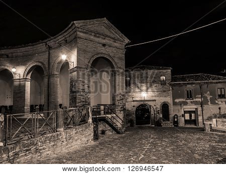 The old town of Mondaino (Rimini), Italy
