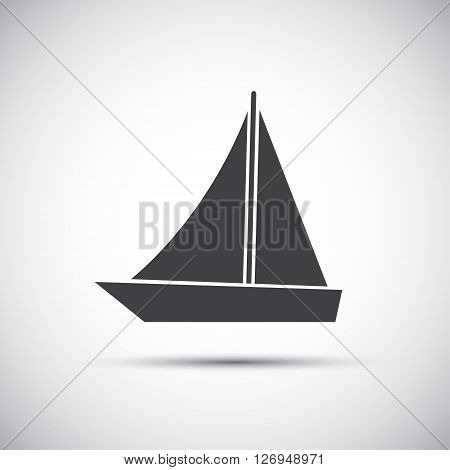 Simple vector illustration of sailboat for your website and infographic