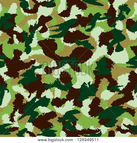 War Universal Nature Camouflage Seamless Vector Pattern. Can Be Used For Wallpaper, Pattern Fills, W