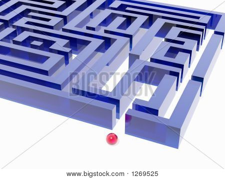 Labyrinth And Red Glass Ball