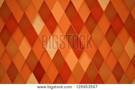 Abstract Rhombus Orange Background. Vector Illustration