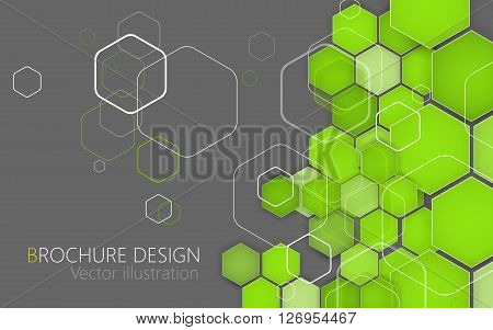 Business Brochure Cover Design Template. Vector. Green Background