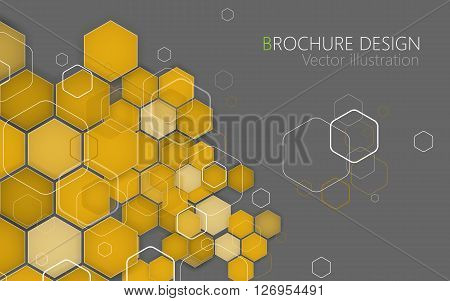 Business Brochure Cover Design Template. Vector. Yellow Background