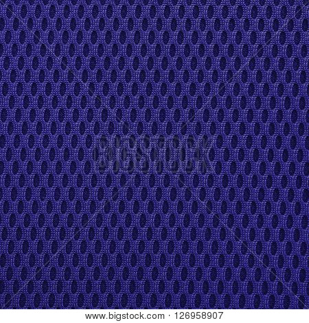 Navy blue multilayer fiber fabric texture. Close up top view.