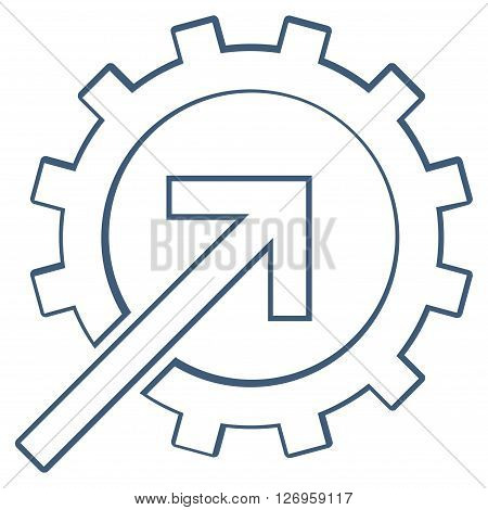 Integration Arrow vector icon. Style is outline icon symbol, blue color, white background.