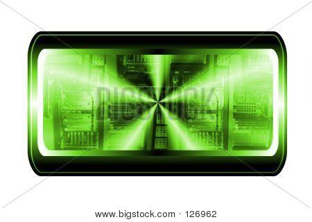 Computer Button poster