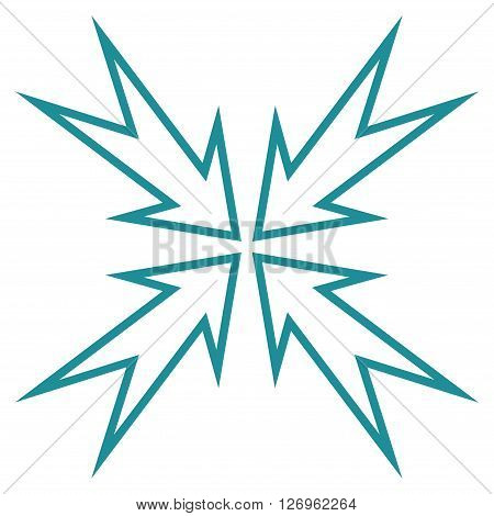 Meeting Point vector icon. Style is thin line icon symbol, soft blue color, white background.