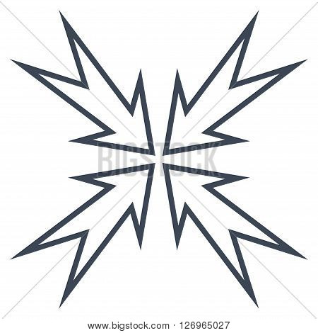Meeting Point vector icon. Style is thin line icon symbol, smooth black color, white background.