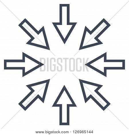 Pressure Arrows vector icon. Style is outline icon symbol, smooth blue color, white background.