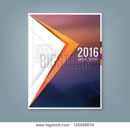 Abstract minimal geometric triangle shapes design background for business annual report book cover brochure flyer poster