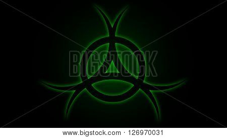 Vector illustration Chemical sign danger green, background