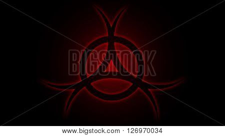 Vector illustration Chemical sign danger red, backgroun