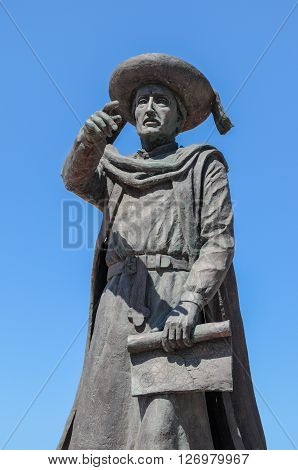 Monument of Heinrich the seafarer in portugal.