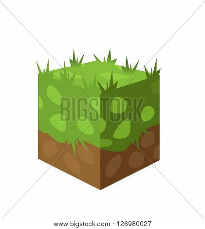 gaming background. a piece of land with grass. It may be used for illustration and Publicity