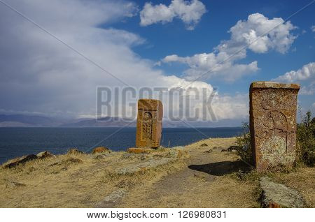 Khachkar (cross Stone), Sevan Lake, Armenia