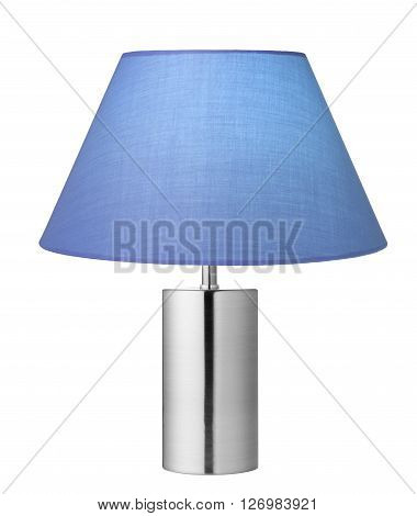 Blue lampshade isolated on a white background