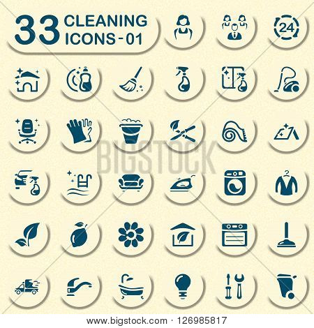 Jeans cleaning service icons for web and mobile applications