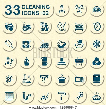 Jeans cleaning icons for mobile apps and web