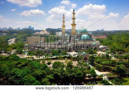 Masjid Wilayah Persekutuan in Kuala Lumpur Malaysia