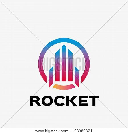 Abstract rocket logo. Abstract startup logo design template. Logo template editable for your business.