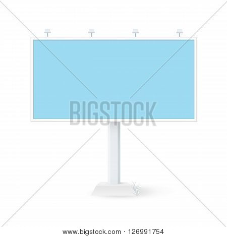 Isolated billboard 3x6. Outdoor advertising template. Mockup advertising and design.